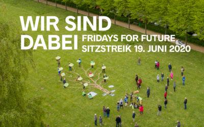 Wir sind dabei – Sitzstreik von Fridays For Future